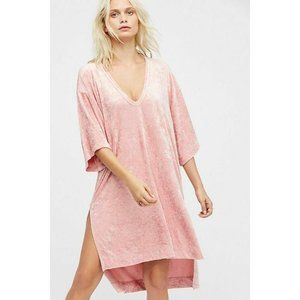 Free People Luxe Tee Velvet Pink Tunic Size Small